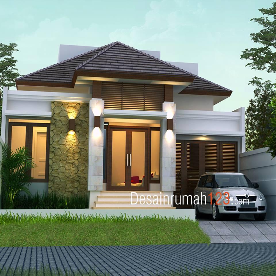 Arsitektur Rumah: Desain Rumah 1 Lantai Bergaya Tropis Di Lahan 10 X 20 M2
