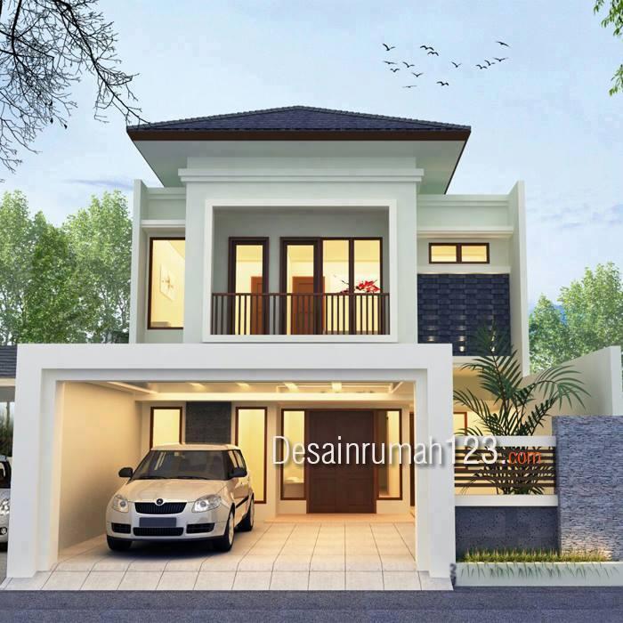 Desain Rumah Model Tropis 2 Lantai Di Lahan  M2