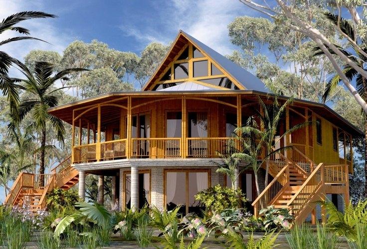 Desain Rumah Bambu Terkini Desain Rumah Online