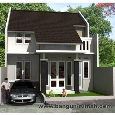 desain rumah 2 lantai di lahan 8 x 15 m2 | brp - 806