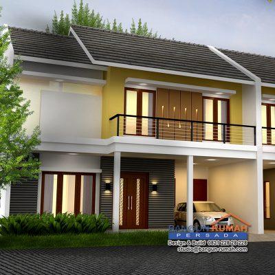 desain rumah 2 lantai di lahan 10 x 16 m2 ~ desain rumah