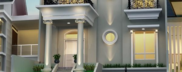 Desain Eksterior Rumah Klasik Modern 3 Lantai