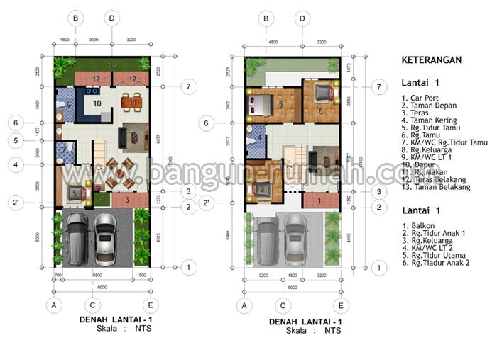 desain rumah 2 lantai di lahan 8 x 17 5 meter studio
