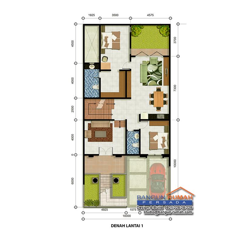 Desain Rumah Klasik 3 Lantai Di Lahan 10 X 21