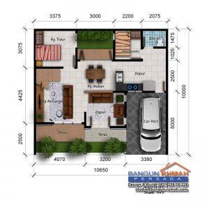 desain rumah 2 lantai di lahan 10,65 x 10 m2   brp - 10-02
