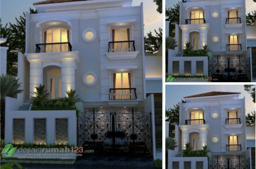 Desain Rumah Klasik Modern 3 Lantai Di Lahan 10 x 21 M2