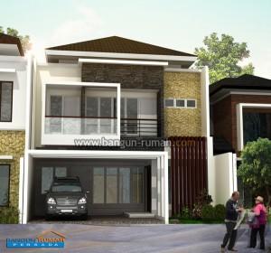 desain rumah minimalis 2 lantai di lahan 9 x 15 m2