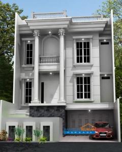 rumah minimalis cat hitam putih