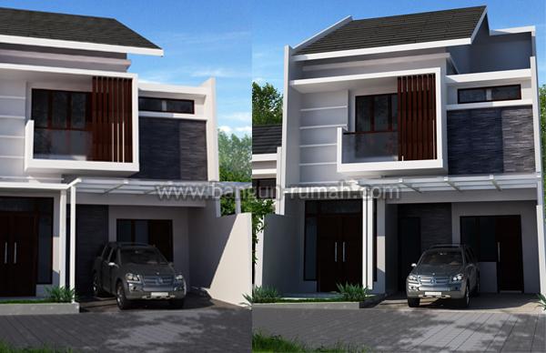 Desain Rumah 2 Lantai Lebar 8 Meter