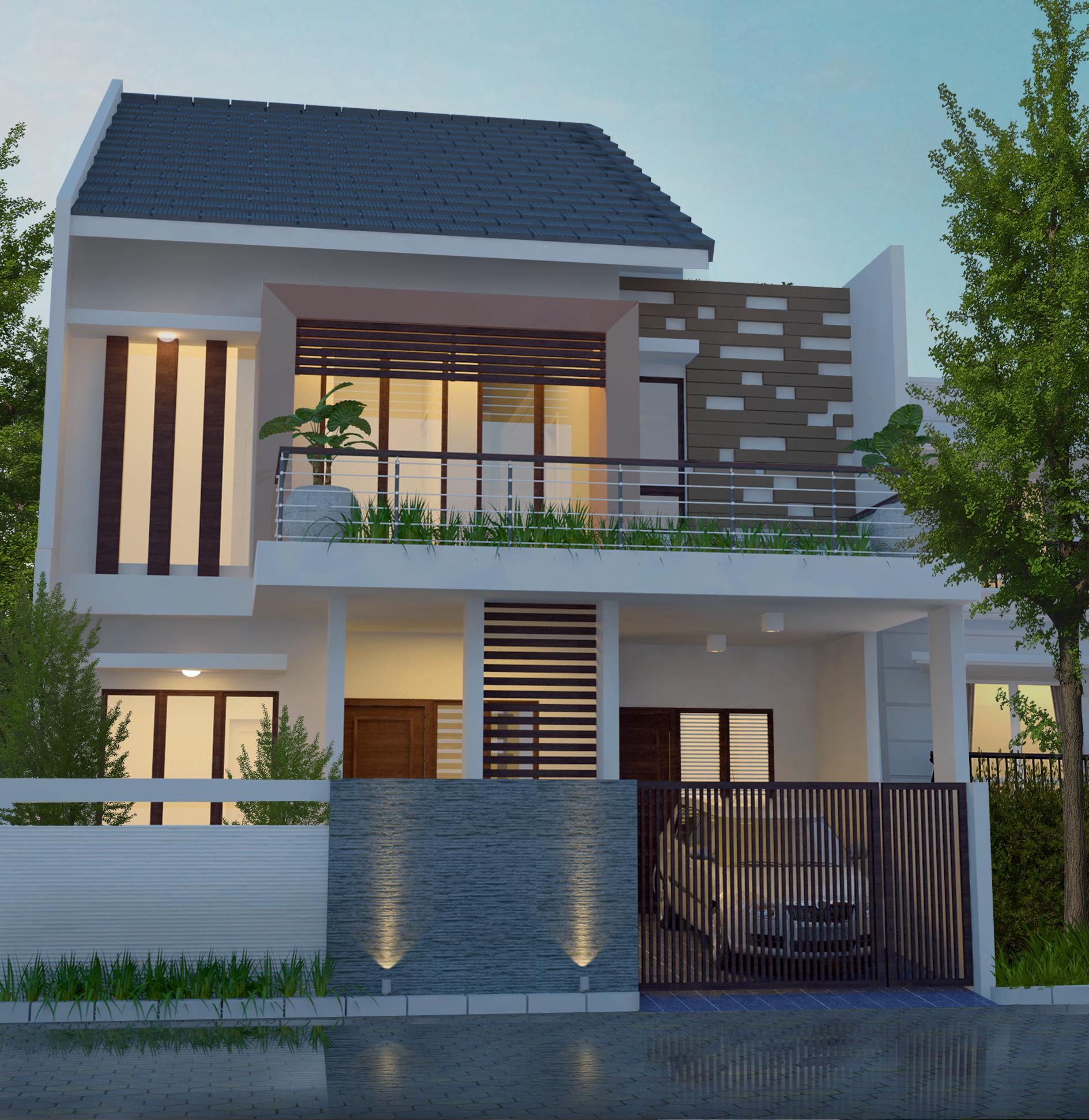 Desain Rumah 9 x 15 M2 Dua Lantai Ada Mushola ~ Desain ...
