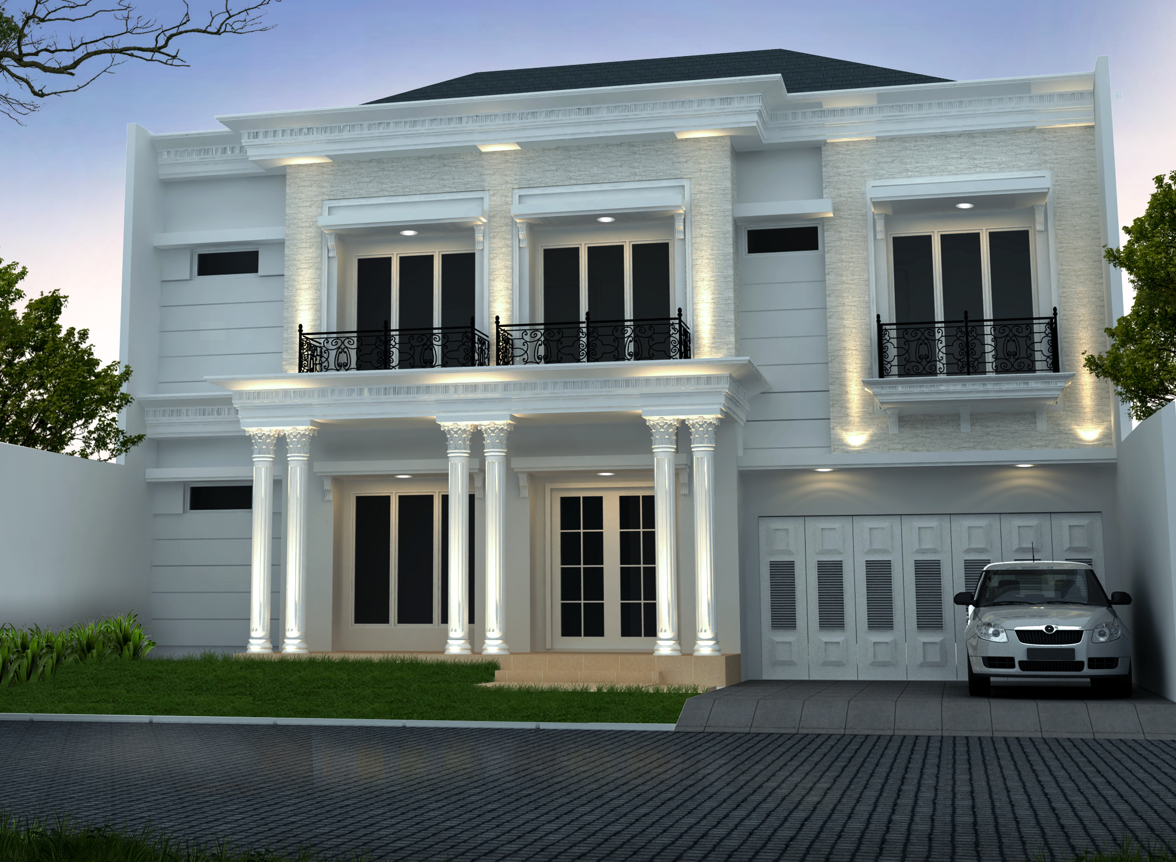 Desain Rumah Klasik 15 x 20 M2 Dua Lantai Ada Kolam Renang ...