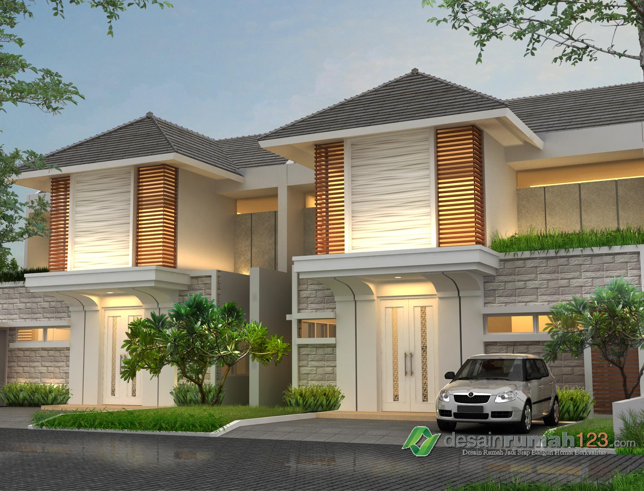 Desain Rumah 2 Lantai 10x17,7 M2 Dengan 5 Ruang Tidur ...