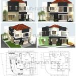 Desain Rumah Hook 15 x 17,5 M2