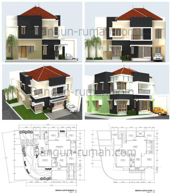 KETERANGAN DESAIN : & Desain Rumah Hook 15 x 175 M2 ~ Desain Rumah Online