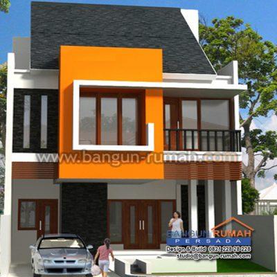 desain rumah 2 lantai di lahan 8 x 17,5 m2   brp - 803