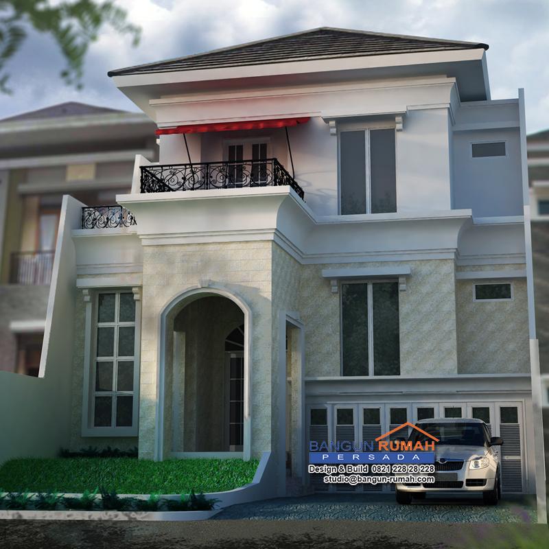 Desain Rumah Klasik 3 Lantai di Lahan 12 x 18,5 M2  BRP
