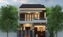 Desain Rumah 8 x 15 M2 2 Lantai 4 Ruang Tidur