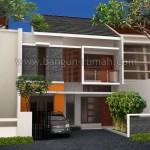 Desain Rumah 2 Lantai di Lahan 8 x 17,5 Meter