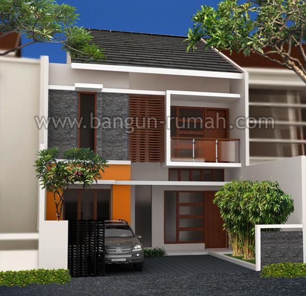 Desain Rumah 2 Lantai di Lahan 8 x 17,5 Meter  STUDIO ARSITEK Desain