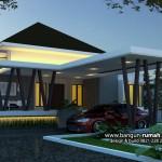 Desain Rumah Tangerang | Desain Rumah Modern Tropis 1 lantai di lahan 15 x 55 M2