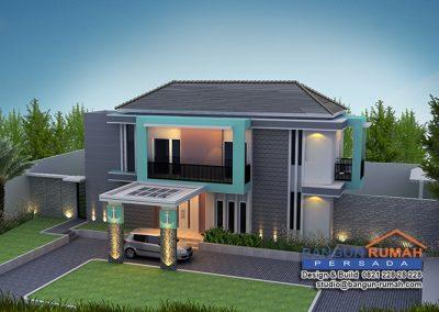 Desain Rumah Tropis 2 Lantai Bapak Efendi di Cibinong Bogor