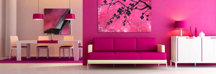 Interior Warna Pink Yang Elegan