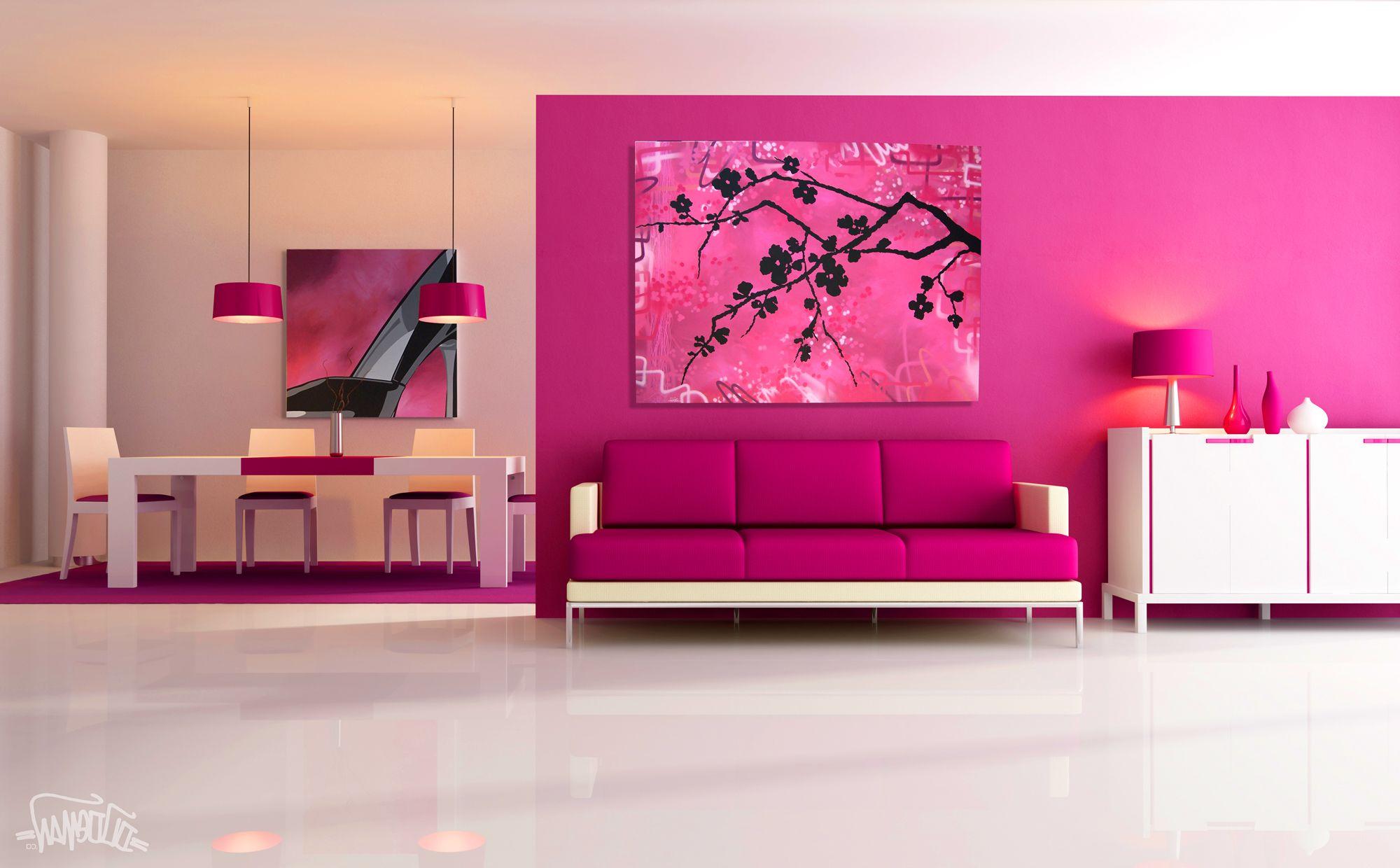 Interior warna pink yang elegan desain rumah online for Room design hd image