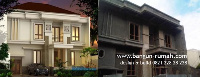 Proses desain rumah dan bangun rumah Bapak Hendra di Pulomas Jakarta ...