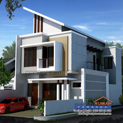 desain rumah 2 lantai di lahan 7 x 15 | brp - 704 ~ desain