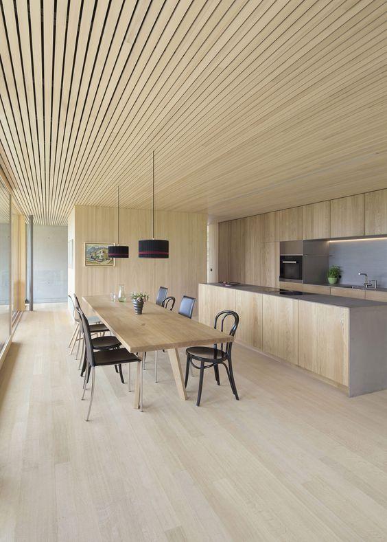 55 model plafon kayu terbaru desain rumah online. Black Bedroom Furniture Sets. Home Design Ideas