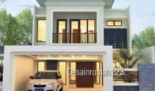 Desain Rumah Model Tropis 2 Lantai Di Lahan 8,5 x 21 M2