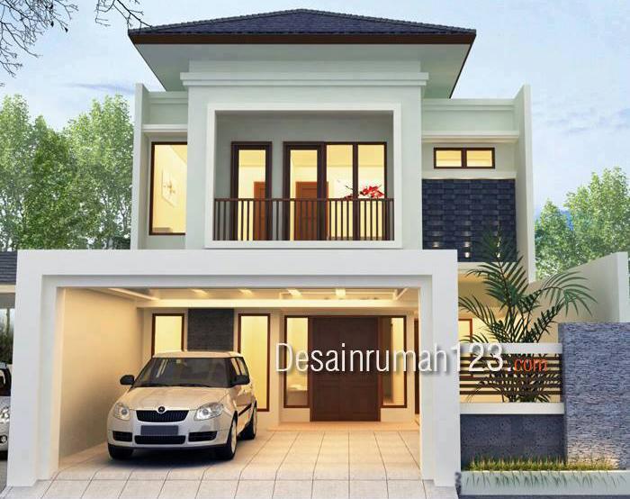 Desain Rumah Model Tropis 2 Lantai Lahan 8 5 21
