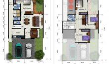 Desain Rumah 2 Lantai 10×17,7 M2 Dengan 5 Ruang Tidur