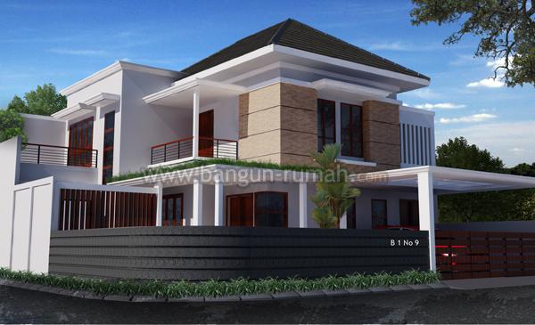 desain rumah hook di lahan 16 x 17 m2 studio desain