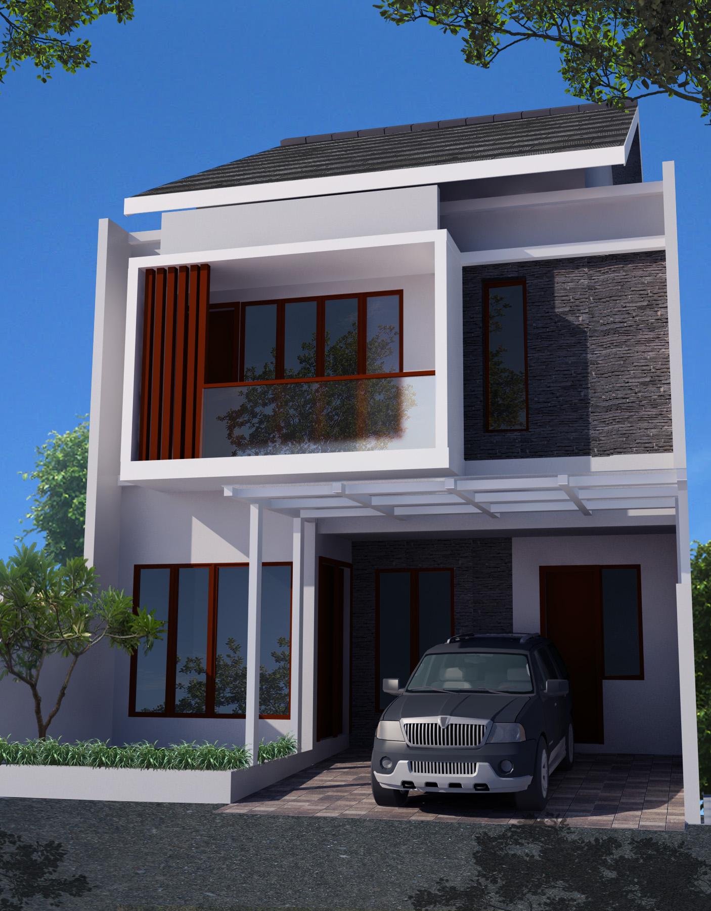 Desain Rumah Minimalis 2 Lantai Di Lahan 8 X 15 M2 Studio Desain