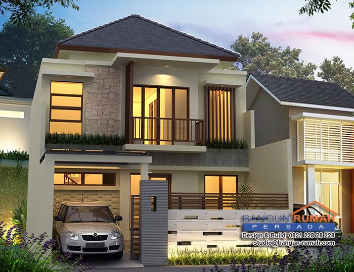 Desain Rumah Tropis 2 Lantai | Rumah Bapak Eko di Jatiwaringin