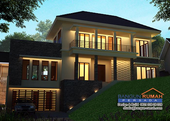 studio desain rumah jakartadesain rumah tropis 2 lantai di