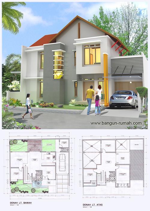 Desain Rumah 2 Lantai Ukuran Tanah 15 5 M Muka X 13 5 M Samping Desain Rumah Online