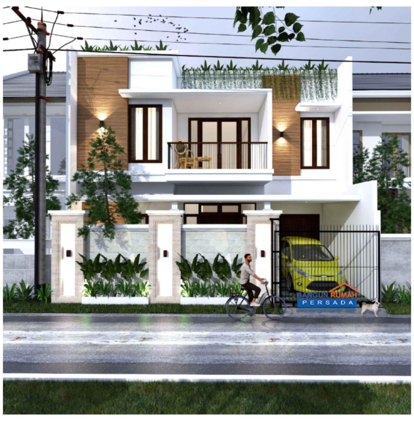 Desain Rumah 2 Lantai Ber Atap Rooftop Dilahan 10 X 12 M2