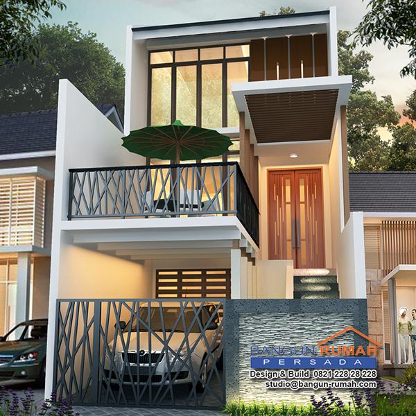 gambar desain rumah 2 lantai ukuran 6x15 rumah xy
