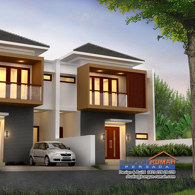 Desain Rumah 2 Lantai Di Lahan 8 X 18 M2 Rm 801 2 Lt Desain Rumah Online