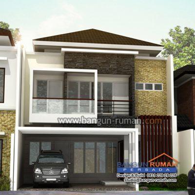 desain rumah tropis 2 lantai di lahan 9 x 20 m2 | brp