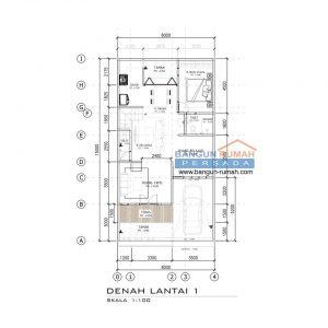 desain rumah 8 x 15 m2 2 lantai 4 ruang tidur ~ desain