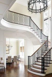 60 model pegangan tangga rumah yang terbuat dari kayu,besi