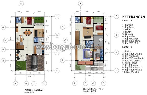 Desain Rumah Di Lahan 8 X 15 M2 Brp 804 Desain Rumah Online