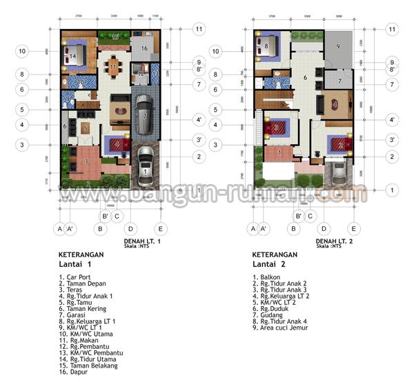 Desain Rumah 2 Lantai di Lahan 10 x 16 M2 Desain Rumah Online