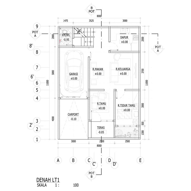 Desain Rumah 8 X 11 M2 Tiga Lantai Ada Roof Garden Desain Rumah Online