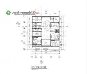 denah lt 2 ~ desain rumah online