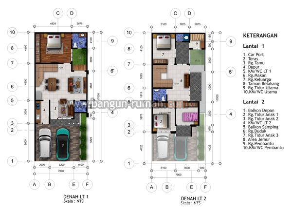 Desain Rumah 2 Lantai Di Lahan 7 X 17 M Hook