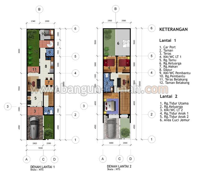 Desain Rumah 2 Lantai Di Lahan 5 X 20 M2 Desain Rumah Online